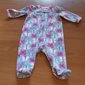 Small Wonders 0-3 Months Butterfly Footed Pjs